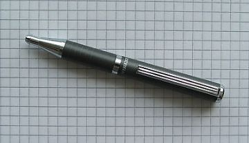 ZEBRA EXPANDZ BALLPOINT PEN BLACK INK in GIFT BOX - GUN METAL GREY METAL BARREL